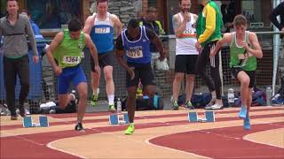 Senior Men's & Women's 100m at the 2018 Munster T & F Championships...Video by Jerry Walsh
