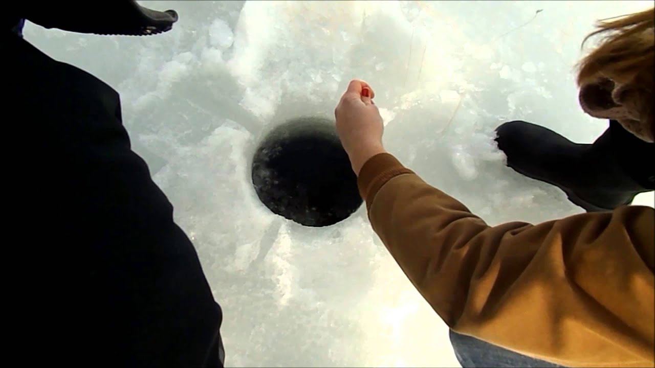 Maine ice fishing 2014 youtube for Fishing license for disabled person