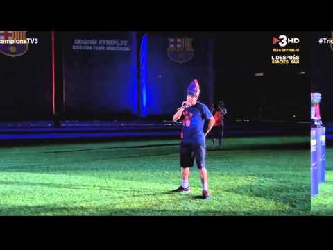 Paraules de Jordi Alba a la celebració del triplet