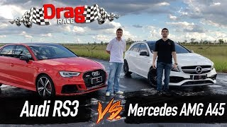 Drag Race Audi RS3 vs. Mercedes AMG A45 (2018) | Top Speed