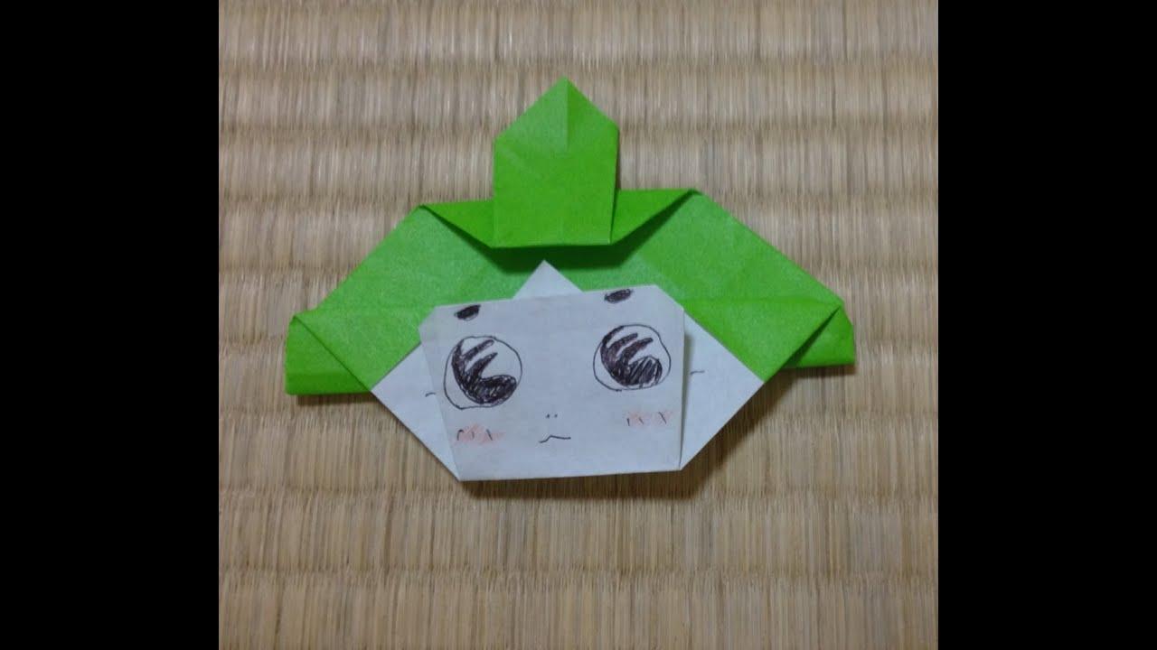 折り紙の ディズニー折り紙の折り方 : 折り紙 おじゃる丸 折り方 ...