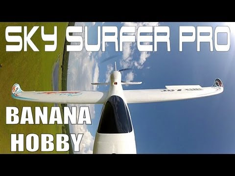 BANANA HOBBY Sky Surfer PRO 1600mm Flight Demo in HD By: RCINFORMER