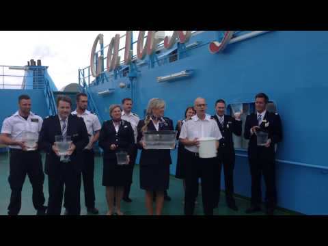 ALS Ice bucket challenge, crew of m/s Galaxy Tallink Silja Ab.