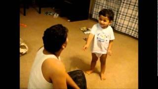 Cute baby arguing