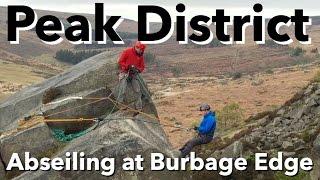 Peak District - Abseiling at Burbage Edge