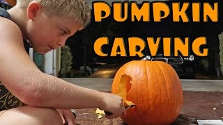 PUMPKIN CARVING AND DIY SLIME!