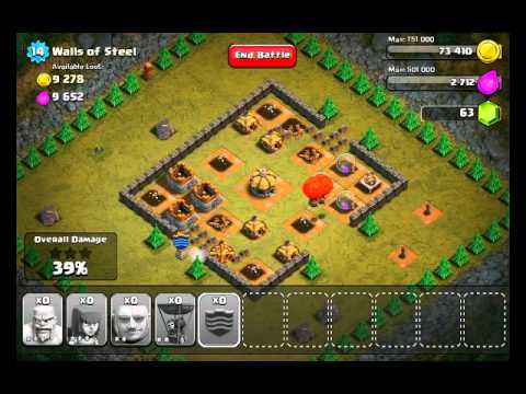 Clash of Clans Level 25 - Walls of Steel - YouTube