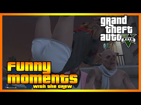 GTA 5 Online - Funny Moments with The Crew (Fancy Bike Tricks and More!)