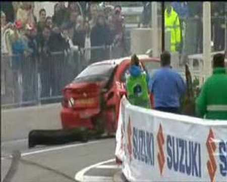 WRC Monte Carlo 2008 - Rautenbach Crash..