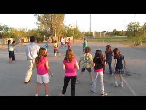 Tucson Hebrew Academy Lag b'Omer Celebration-Students Dancing - 05/02/2013