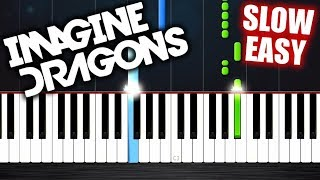 Download Lagu Imagine Dragons - Whatever It Takes - SLOW EASY Piano Tutorial by PlutaX Gratis STAFABAND