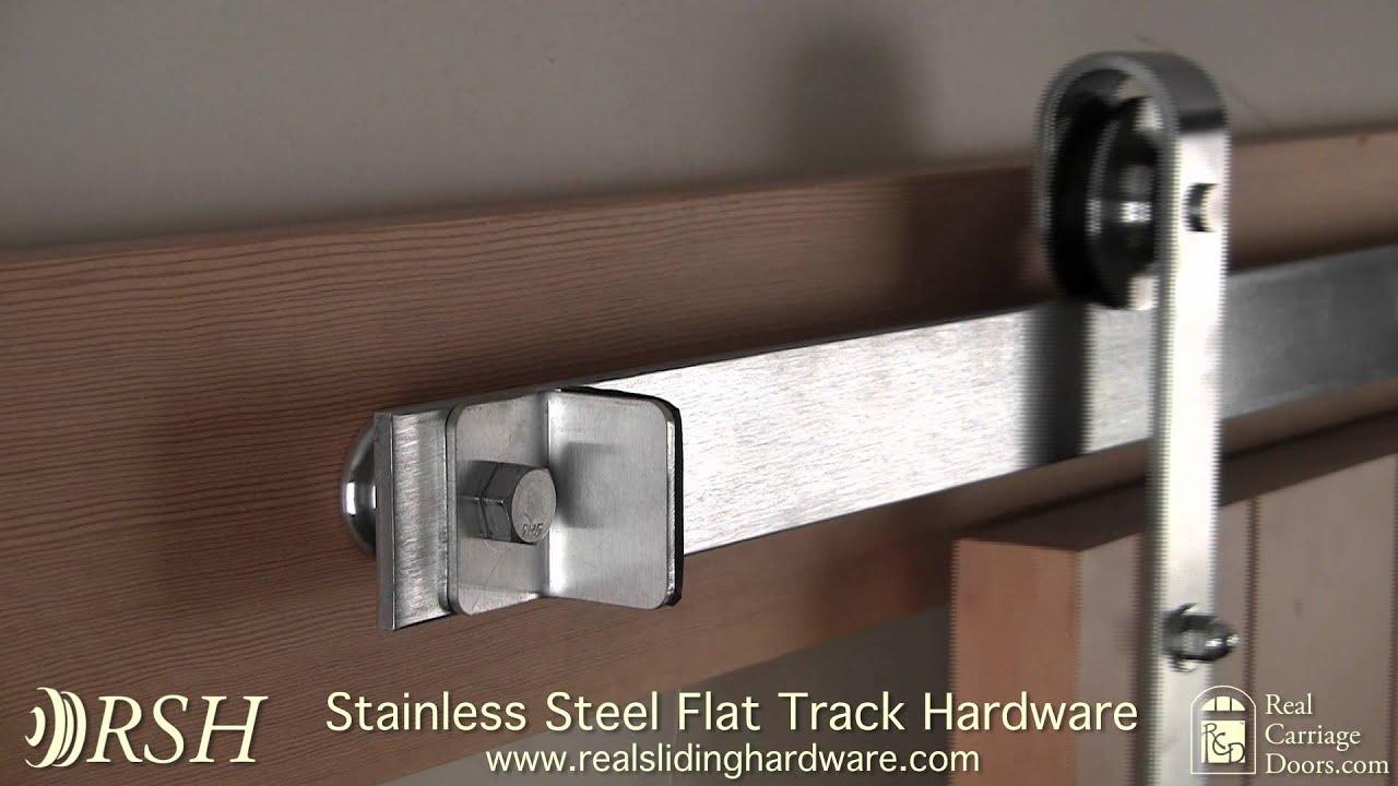 Stainless Steel Barn Door Hardware Youtube