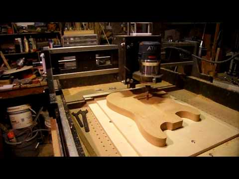 Home Made CNC Router Cutting Guitar. Pt.6:  Rear Cavities