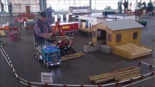 RC Excavator Loads Up A Truck at the Euromodell Bremen 2012