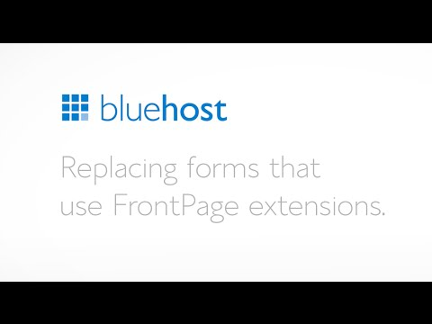 Replacing forms that use FrontPage extensions.