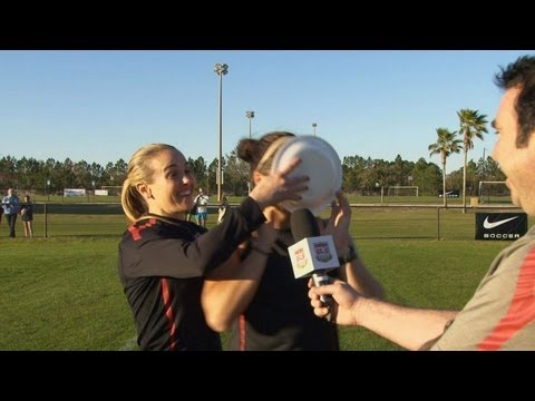 "Noted prankster Heather Mitts welcomes Ali Krieger back to the U.S. WNT after a year-long absence due to her knee injury. It was a ""sweet"" return. More info:..."