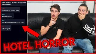 SCARIEST TEXTS EVER RECEIVED... (Hotel Horror)