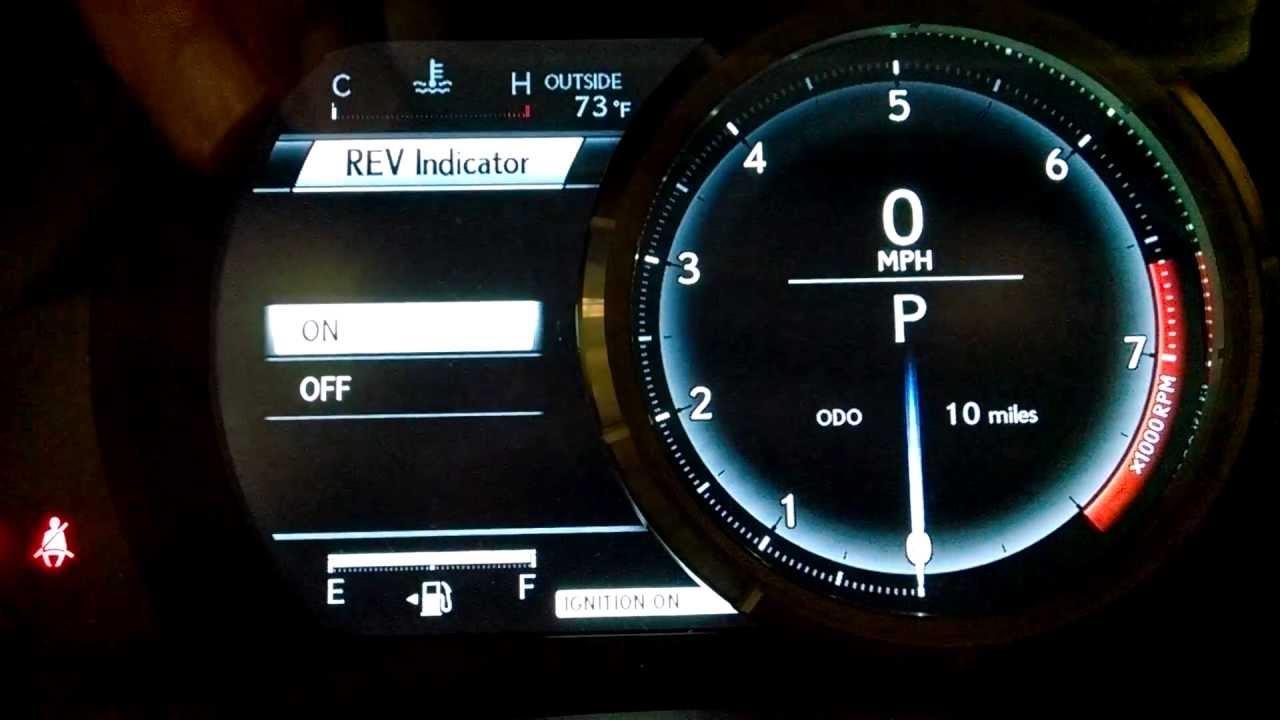 Lexus Is350 Fsport Lfa Inspired Speedometer Youtube