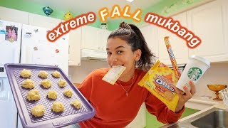 extreme taste test of fall flavored & pumpkin food *MUKBANG*