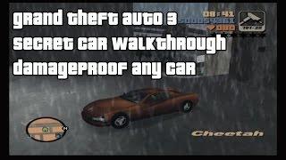 Grand Theft Auto 3 Secret Car Walkthrough - Damageproof any car
