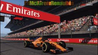 F1 2018 career Spain McLaren - Renault