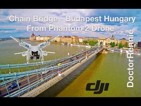 Szechenyi Chain Bridge, Budapest, Hungary in UHD (4K) drone travel video