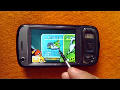 Angry Birds running on HTC TyTN II (Kaiser) with Android Gingerbread 2.3.5