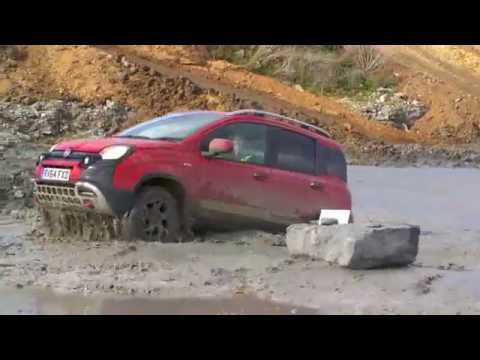 Filmed with Phantom Drone, and tracking car Fiat Panda Cross 4 x 4