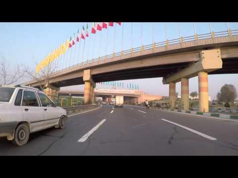 Iran Téhéran Route vers le centre ville de Téhéran / Iran Road to Tehran city center, Gopro