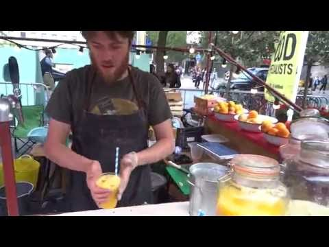 "Buying an Indian ""Style"" Soda + How To Peel a Mango Quickly & Easily by Ed of ""Square Root London""."