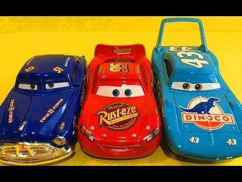 Мультик про Машинки Тачки Молния Маквин Док Хадсон Кинг Гонщики Cars McQueen