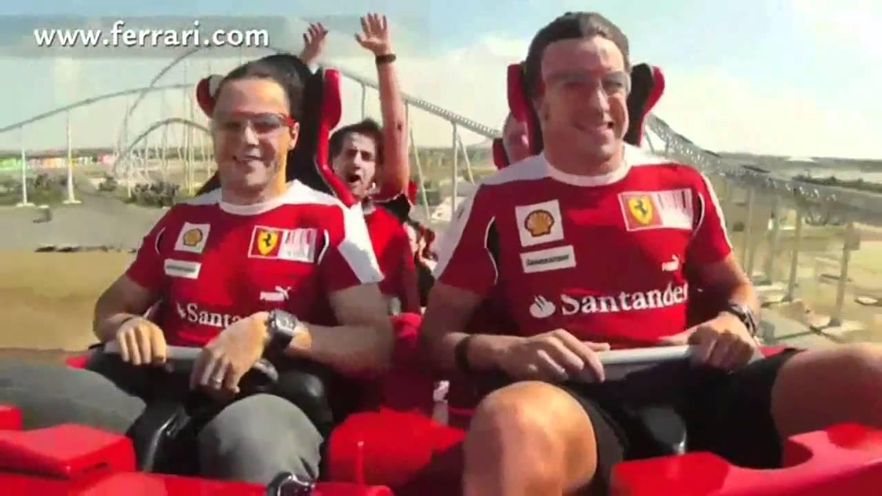Alonso Ferrari World World Ferrari Rosso Abu