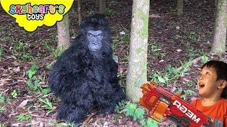 ANGRY GORILLA NERF War in Forest (Part 2) | Skyheart's Toys Gorilla Series King Kong Battle Monkey