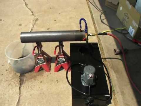 Homemade Babington Ball Waste Oil Burner Boiler Furnace - Part 1