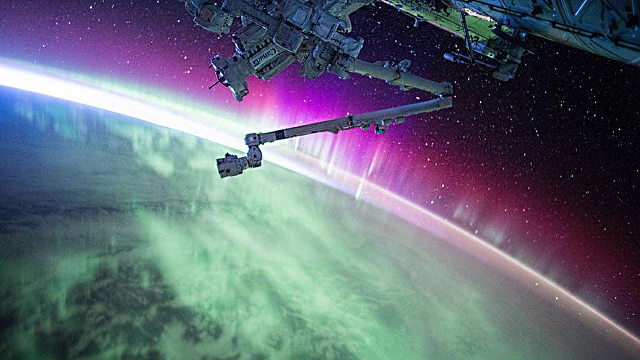 Aurora Light Show as Seen from Orbit