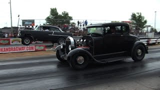 STREET RODS and Gassers - HAMB Drags 2019 - MoKan Dragway