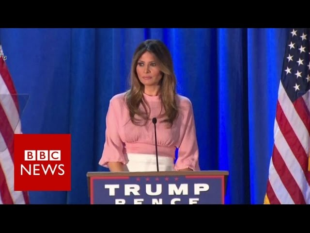 Melania Trump on kind of First Lady she'll be if Donald Trump wins - BBC News