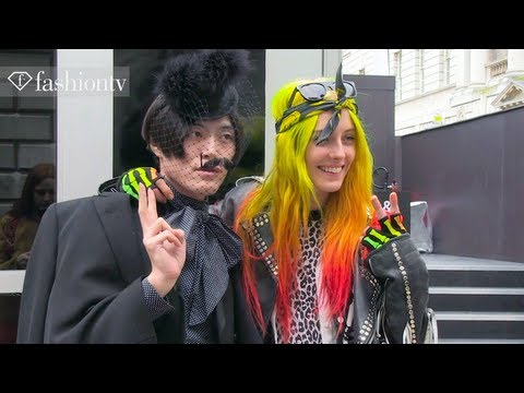 Street Style at London Fashion Week Fall/Winter 2013-2014 | LFW | FashionTV
