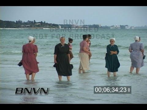 7/3/2006 Sarasota, FL Siesta Beach PM Seabreeze Storm video