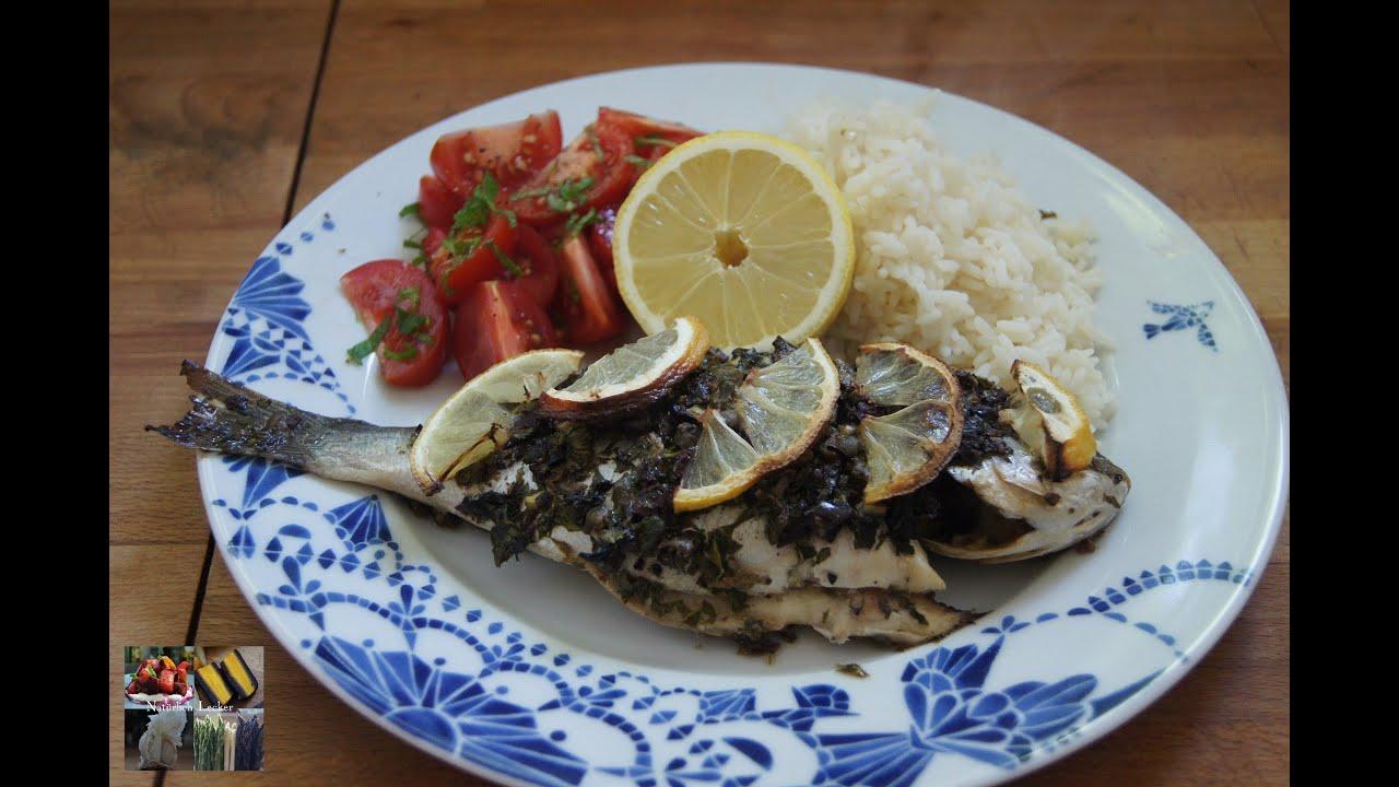 Fisch Dorade mit Topping  Rezept und Anleitung  YouTube ~ Backofen Fisch