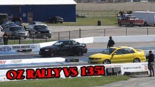 BMW 135i spanking Lancer OZ Rally