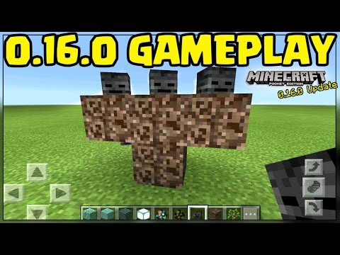 0.16.0 UPDATE GAMEPLAY // DOWNLOAD MCPE 0.16.0 ALPHA (TUTORIAL & REVIEW) - Pocket Edition