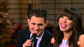 Michael Buble Video - Michael Bublé   Rockn' Around The Christmas Tree  Jingle Bell Rock featCarly Rae Jepsen cut