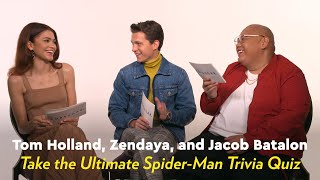 Download Song Tom Holland, Zendaya, and Jacob Batalon Take the Ultimate Spider-Man Trivia Quiz Free StafaMp3