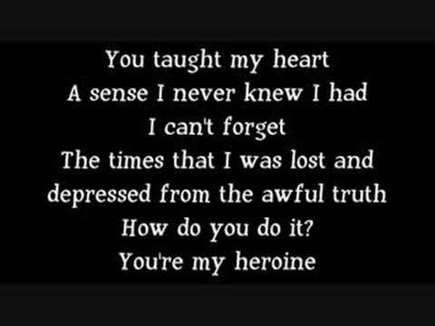 letra de my heroine de silverstein: