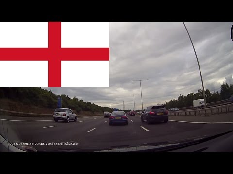 Driving in England 3 --- From Heathrow Terminal 3 to Cambridge 1.5 hours