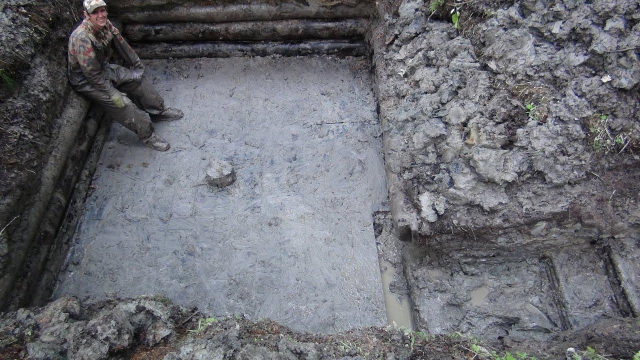 Hd time lapse 2 раскопки блиндажа \\ excavations of german du.