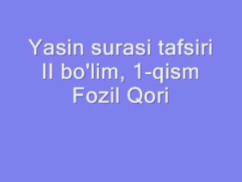 Yasin tafsiri - II bo'lim, 1-qism.wmv