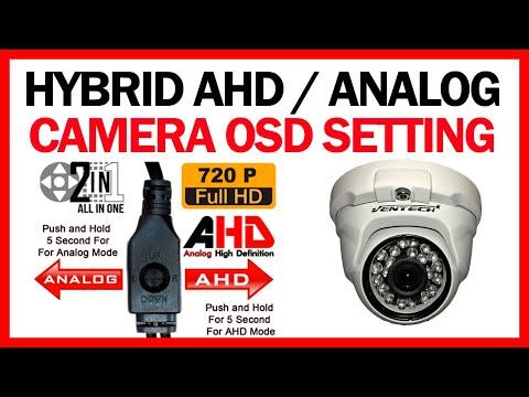 HYBRID AHD / ANALOG CAMERA OSD SETTING