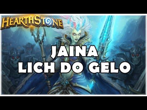 HEARTHSTONE - JAINA LICH DO GELO! (STANDARD DK ELEMENTAL MAGE)